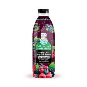 Almarai Farms Select Grapes & Berries 100% Juice 250 Ml