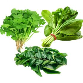 Mixed leaves coriander/curry/spinach
