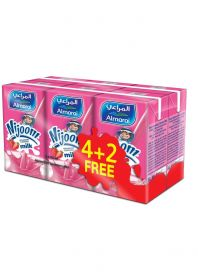 Almarai Nijoom Uht Strawberry Milk 6 X 150Ml