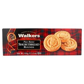 Walkers Pure Butter Shortbread Round 150Gm