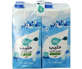Mazoon Long Life Milk Full Fat 1ltr x 4