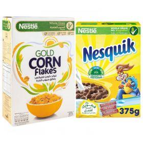 Nestle Cornflakes 375 Gm + Nesquik 375 Gm