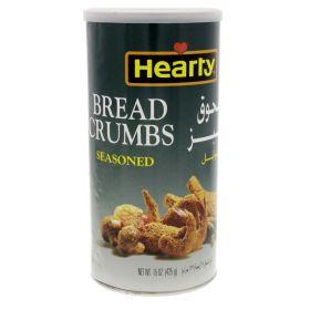 Hearty bread crumbs, seasoned. 425 g
