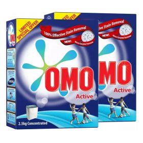 Omo Active Washing Powder 2 X 2.5 Kg