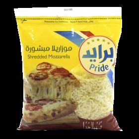 Pride Mozzarella Cheese (Shredded) 1Kg