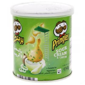Pringles Sour Cream & Onion Chips 40gm