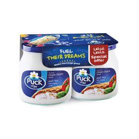 Puck cream cheese white jar