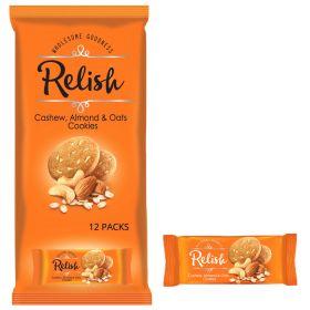 Relish Cashew Almonds & Oats Cookies 12 x 42g