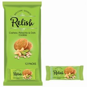 Relish Cashew Pistachio & Oats Cookies 12 x 42g