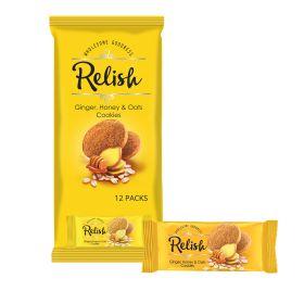 Relish Ginger Honey & Oats Cookies 12 x 42g