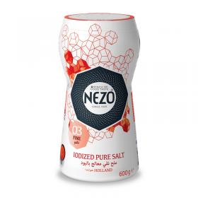 Nezo Iodized Pure Salt 600 gm bottle