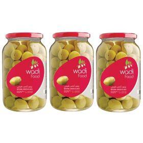 Wadi Food Green Olives 3 x 200 Gm