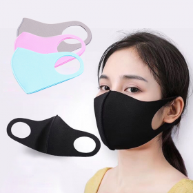 washable cloth mask, various colors: pink, blue, black, brown
