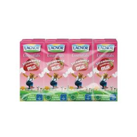 Lacnor Essentials Strawberry Flavoured Milk 6 X 125Ml